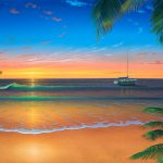 Sunset Painting Island