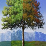 Surreal Timeline Tree Series Lesson Set Acrylic Painting Tim Gagnon