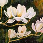 Texas Contemporary Fine Artist Laurie Pace Magnolia Flower