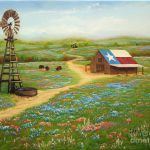 Texas Countryside Painting Jimmie
