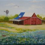 Texas Hill Country Barn Painting Jimmie