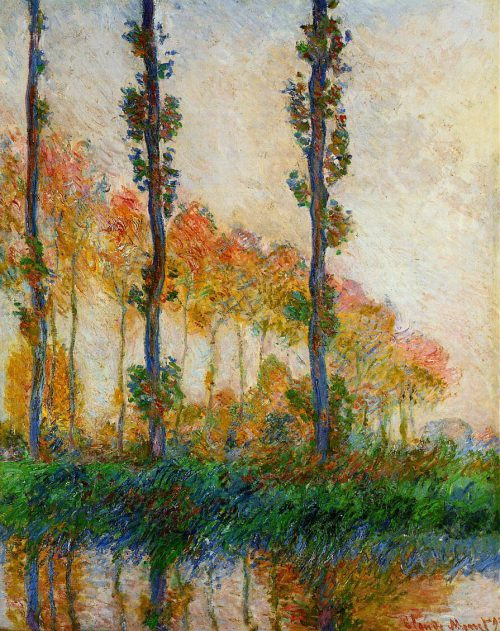 Trees Landscape Claude Monet His Poplar Series Eclectic Light