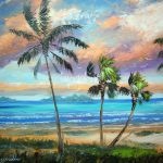 Tropical Island Beach Painting Mazz Original