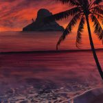 Tropical Sunrise Paintings Archive Thomas Deir Honolulu