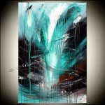 Turquoise Painting Abstract Art Canvas Original Contemporary Paintings
