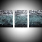 Turquoise Triptych Abstract Artists Art