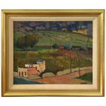 Tuscan Landscape Oil Painting Framed Sale