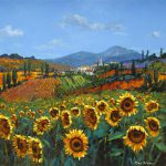 Tuscan Sunflowers Painting Chris
