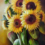Unknown Artist Sunflowers Painting Best Paintings