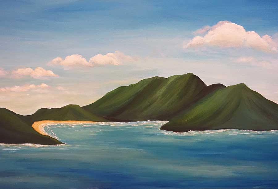 Virgin Islands Painting Original Island Seascape Art Liz