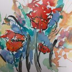 Watercolor Ink Straw Paintings Young Adult
