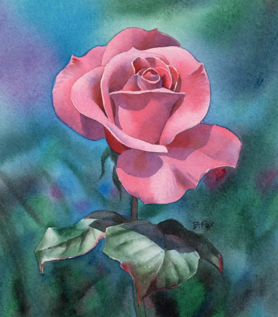 Watercolour Painting Demonstration Perfectly Pink