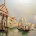 Well Listed Maria Gianni Venice Antique Oil Painting Old