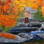 West Virginia Grist Mill Painting William