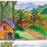 West Virginia Hand Painted Lodge Weddings Watercolor Wedding