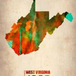 West Virginia Watercolor Map Naxart