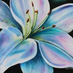 White Lily Painting Joanne