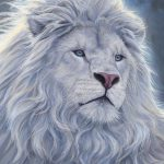 White Lion Painting Lucie