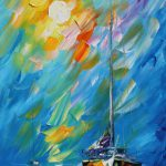 Wind Waves Palette Knife Oil Painting Canvas Leonid