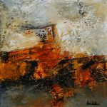 Winter Fireside Nancy Eckels Abstract Contemporary Painting Stephanie