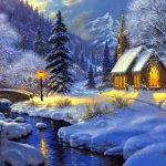 Winter Four New Love Holy White Year Pretty Colors Beautiful Paintings Hollidays