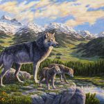 Wolf Painting Passing Crista