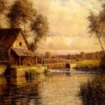 Louis Aston Knight Old Mill Normandy Painting Best Paintings